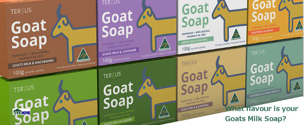 Tergus Goats milk Soap is handmade, 100% natural and palm oil free.