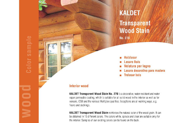 Livos Kaldet Transparent Wood Stain Information part 1a