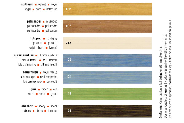 Livos Kaldet Transparent Wood Stain Information part 1b
